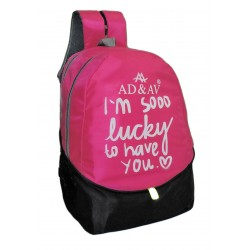 AD & AV 109_SCHOOL_BAG_PINKBIG_BB Waterproof School Bag  (Pink, 35 L)