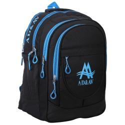 AD & AV 113_BIGBLUE_SCHOOL_BAG Waterproof School Bag  (Blue, 35 L)