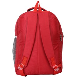 AD & AV 124_SCHOOL_BAG_RED_TEDHI_LINE Waterproof School Bag  (Red, 25 L)