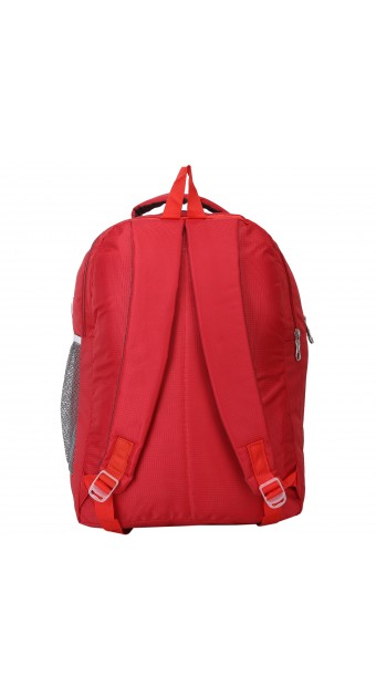 022cece901 AD   AV 124 SCHOOL BAG RED TEDHI LINE Waterproof School Bag (Red