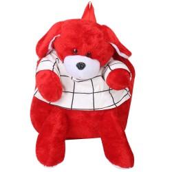 AD & AV 126_TEDDY_BEAR_BAG_AA Plush Bag  (Red, 10 L)
