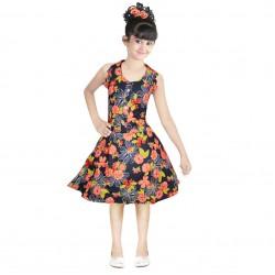 Girls Mini/Short Casual Dress  (Yellow, Sleeveless)
