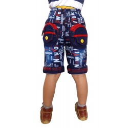Short For Boys Casual Solid Cotton  PACK OF 3 JEANS RED KHAKI