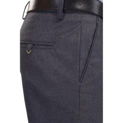 Regular Fit Men Blue Trousers