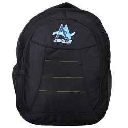 AD & AV 116_BAG_PLAIN_BLACK_AA Waterproof School Bag  (Black, 30 L)