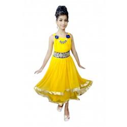 AD & AV Girls yellow plain dv