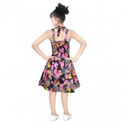 Girls Mini/Short Casual Dress  (Pink, Sleeveless)