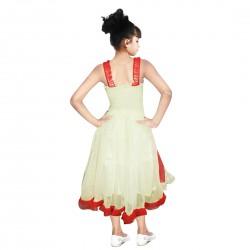 Girls Midi/Knee Length Party Dress  (Red, Sleeveless)