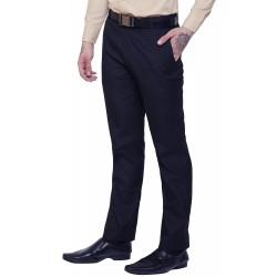 Regular Fit Men Black Trousers