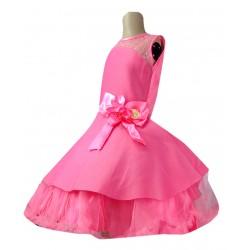 AD & AV Girls Midi/Knee Length Casual Dress pink  skuba