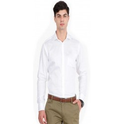 Men's Solid Casual Spread Shirt_546