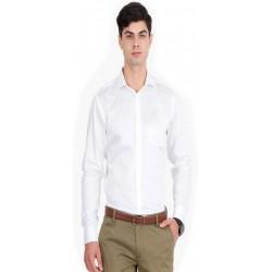 Men's Solid Casual Spread Shirt_546
