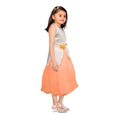 AD & AV Girls  FROCK ORANGE JACKET