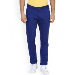AD & AV Regular Fit Men'  ROYALBLUE LYCRA