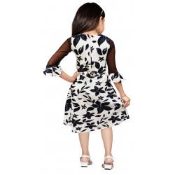 AD & AV Girls Midi/Knee Length Casual Dress BLACK PATTI
