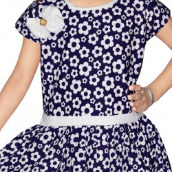 Girls Mini/Short Casual Dress  (Blue, Cap Sleeve)