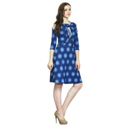 Women's A-line Blue Dress