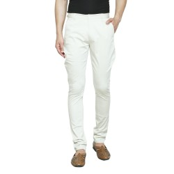 Regular Fit Men Beige Trousers