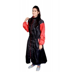 WOMEN'S BLACK RAINCOAT