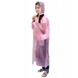 womens pink chex RAINCOAT