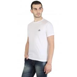 Solid Men's Round Neck White T-Shirt