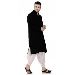 Men BLACKPLAIN_DHOTI