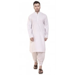 Men  WHITEPLIAN_DHOTI