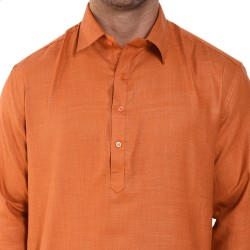 Men  SLUB ORANGE PATHANI