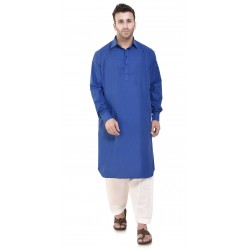 Men  PLAIN BLUE PATHANI