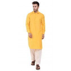 Men   PLAIN YELLOW PATHANI