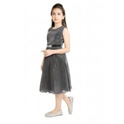 Girls Midi/Knee Length Party Dress  (Black, Sleeveless)