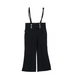 Girls Maxi/Full Length Party Dress  (Black, 3/4 Sleeve)
