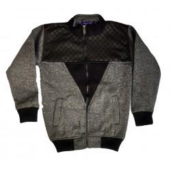 Full Sleeve Self Design Men Jacket