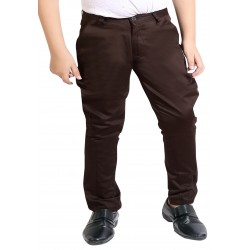 Regular Fit Boys Brown Trousers