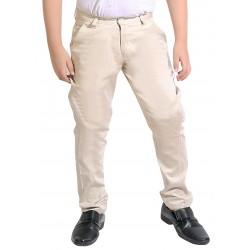 Regular Fit Boys Cream Trousers