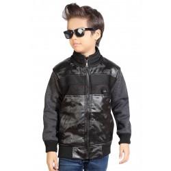 Full Sleeve Self Design Boys Jacket