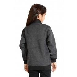 Full Sleeve Self Design Girls Jacket