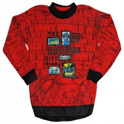 Self Design Round Neck Casual Boy's & Girl's Red Sweater