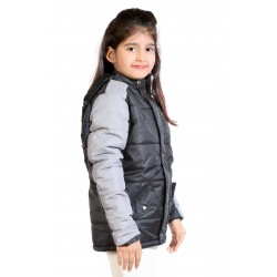 Full Sleeve Colorblock Girls Jacket
