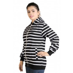 Full Sleeve Striped Women's Jacket