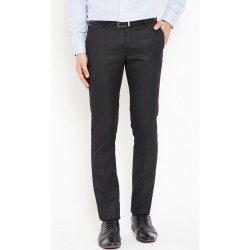 Regular Fit Men's Black Trousers