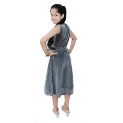 AD & AV Girls Midi/Knee Length Party Dress  (BLACK, Sleeveless) (764)