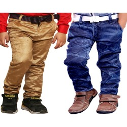 COMBO BADI JEANS  AND BROWN VELEVT
