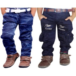 COMBO BADI JEANS AND NEW BLUE CARGO
