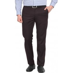 Regular Fit Men Brown Trousers
