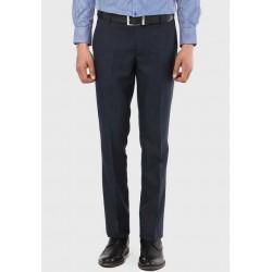 Regular Fit Men Dark Blue Trousers