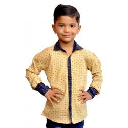 AD & AV Boy's Casual Spread Shirt beige  (195)