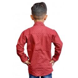 AD & AV Boy's Casual Spread Shirt DARK RED SHIRT  (196)