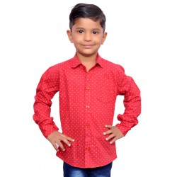 AD & AV Boy's Casual Spread LIGHT RED Shirt   (197)