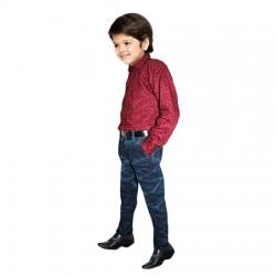 AD & AV Boy's Casual Spread LIGHT RED Shirt   (197)